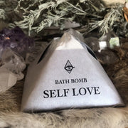 Self Love Bath Bomb Geranium Orange Frankincense Rose by Magic Fairy Candles Shop Jupiter Goods