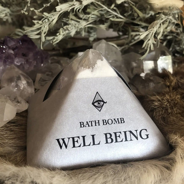 Well Being Bath Bomb Basil Lavender Sage Peppermint Magic Fairy Candles Shop Jupiter Goods