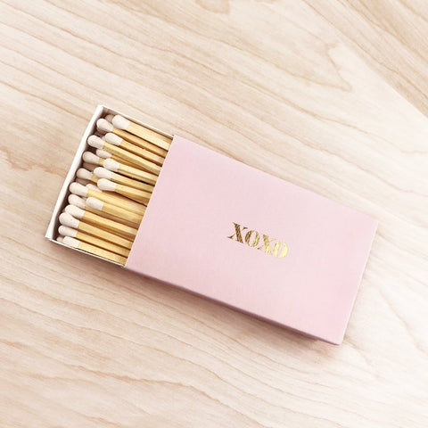 XOXO XL Gold Foil Matches