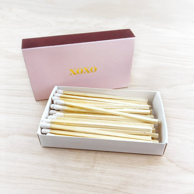 XOXO XL Gold Foil Matches Love Relationships Brooklyn Candle Studio Shop Jupiter Goods