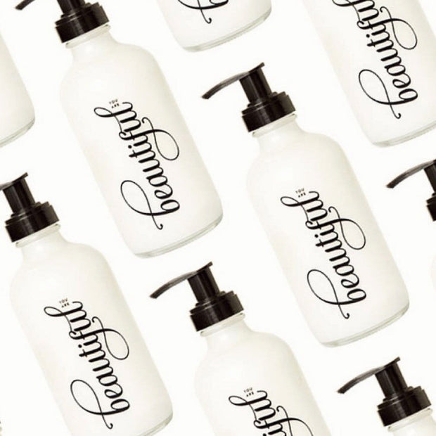 You Are Beautiful Unscented Lotion with Pump by Olivine Atelier Shop Jupiter Goods