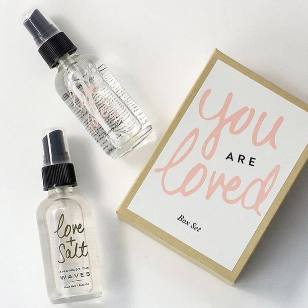 You are Loved Box Set Rose Ylang Ylang Love and Salt and Love and Rose Travel Spray by Olivine Atelier Shop Jupiter Goods