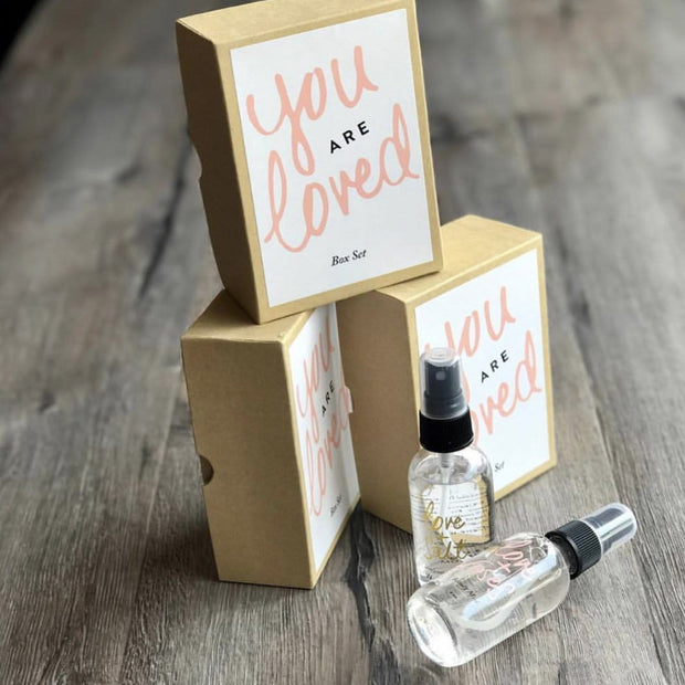You are Loved Box Set Rose Ylang Ylang Love and Salt and Love and Rose Travel Spray Beachy by Olivine Atelier Shop Jupiter Goods