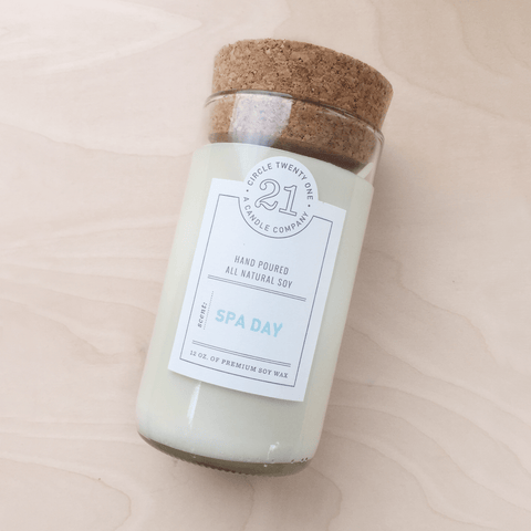 Spa Day ~ 12oz Natural Soy Recycled Glass Candle