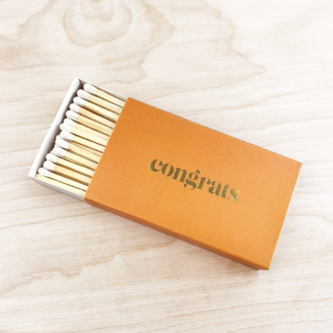 Extra Large Luxury Matches Congrats Brooklyn Candle Company Shop Jupiter Goods