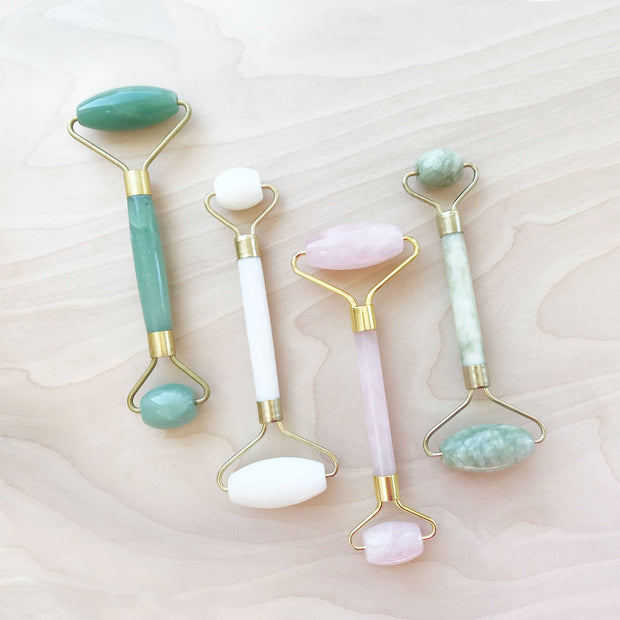Crystal Stone Facial Rollers White Aventurine Jade Shop Jupiter Goods