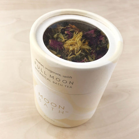 Full Moon Bath Tea Awaken Uplift Rose Ginger Moon Bath Shop Jupiter Goods