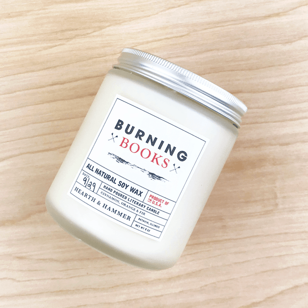 Burning Books Literary Candle 8oz