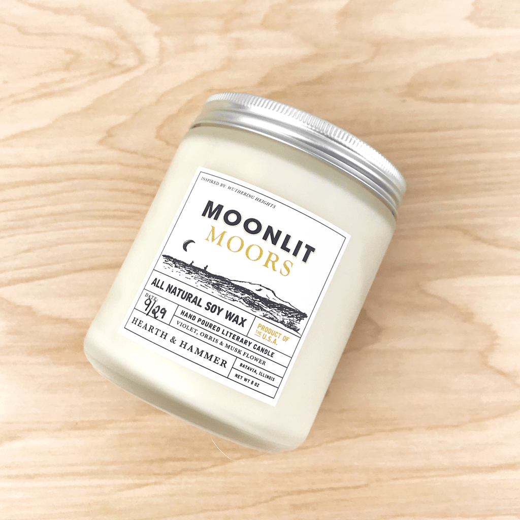 Moonlit Moors Literary Candle 8oz
