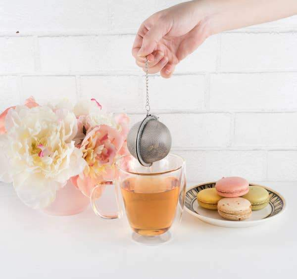 Stainless Steel Herbal Tea Infuser Ball Calm Pinky Up Shop Jupiter Goods