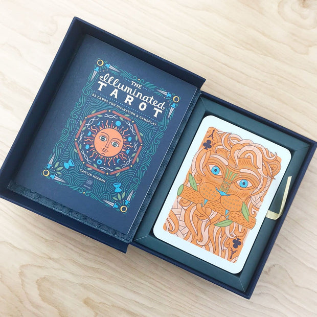 The Illuminated Tarot Playing Card Deck and Guide Book Colorful Gold Detail by Caitlin Keegan Shop Jupiter Goods