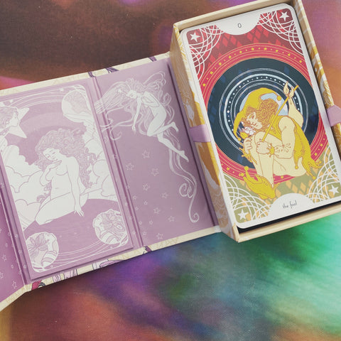 Star Spinner Tarot Inclusive Diverse LGBTQA+ 81 Card and Guidebook Modern Romantic by Trungles Shop Jupiter Goods