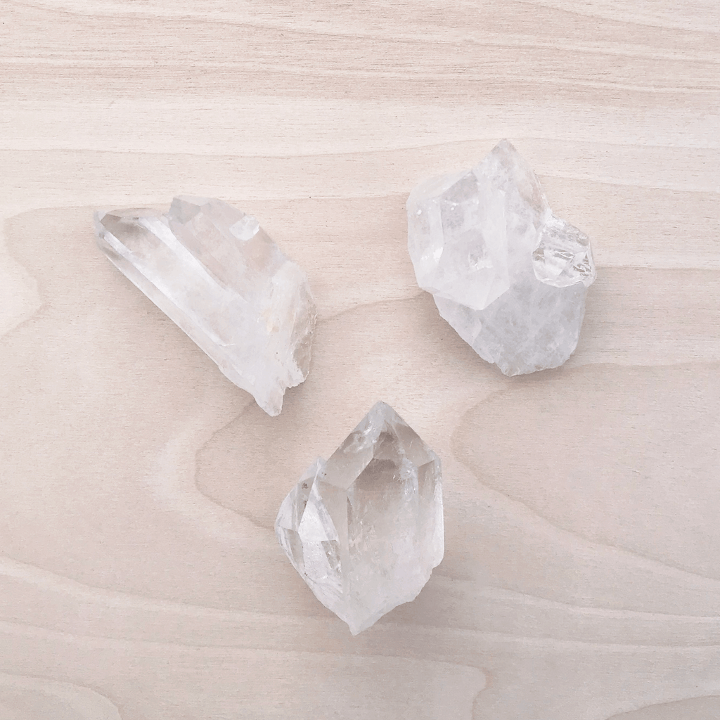 Clear Quartz Smooth Point Mini Clusters