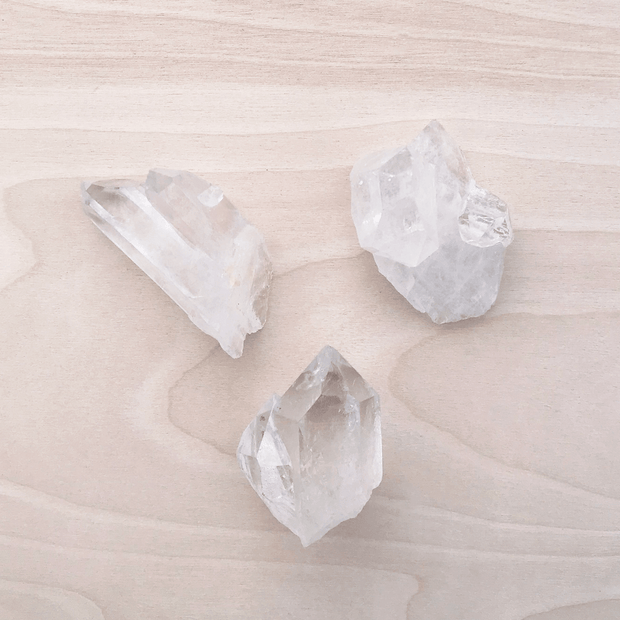 Clear Quartz Crystal Mixed Points Raw Shop Jupiter Goods
