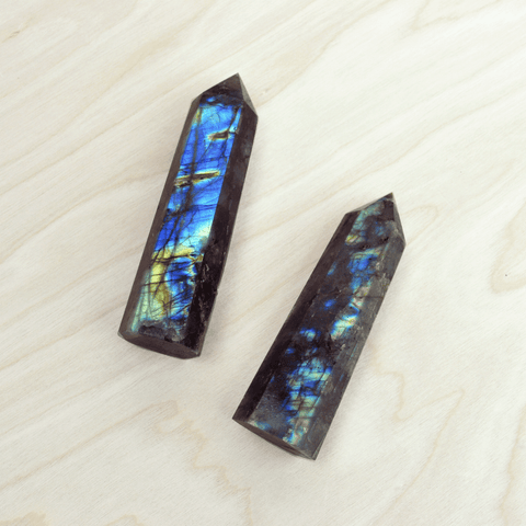 Labradorite Crystal Pointed Wand