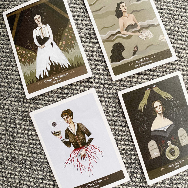 Literary Witches Oracle Deck 70 Card Deck and Guidebook Feminine 30 Female Writers by Taisia Kitaiskaia and Katy Horan Shop Jupiter Goods