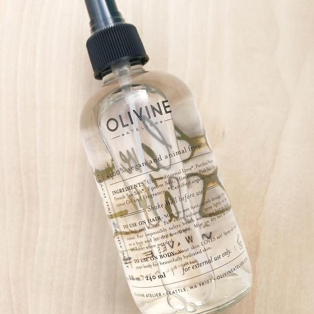 Love and Salt Sultry Sea Waves Hair Mist Amongst The Waves Beauty Spray by Olivine Atelier Shop Jupiter Goods