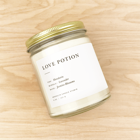 Love Potion Soy Minimalist Candle Lavender Jasmine by Brooklyn Candle Studio Shop Jupiter Goods