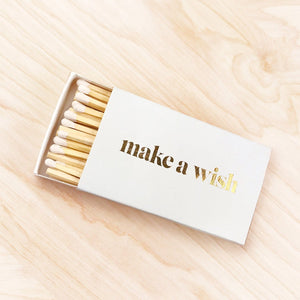 Make A Wish Gold Foil XL Matches