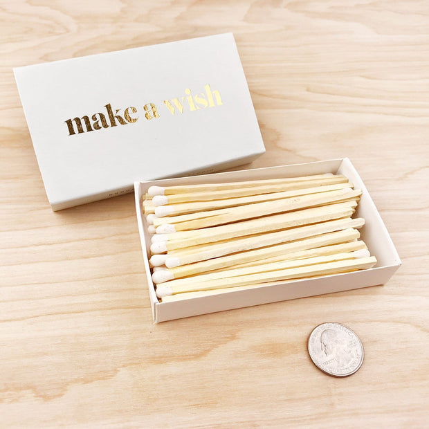 Make a Wish XL Extra Large Birthday Luxury Celebration Matches Brooklyn Candle Company Shop Jupiter Goods