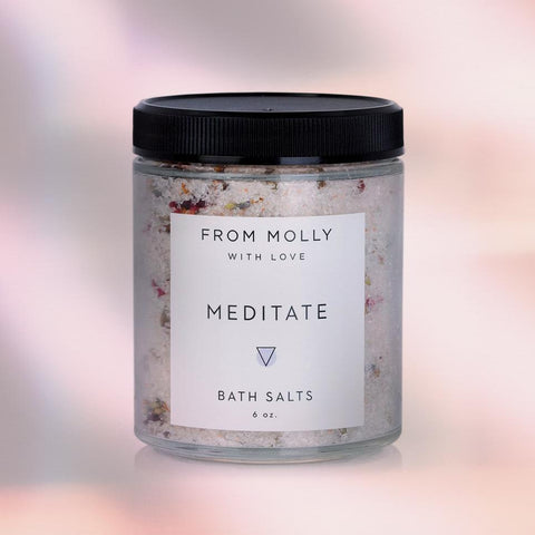 Meditate Bath Salts Lavender Rose From Molly with Love Shop Jupiter Goods