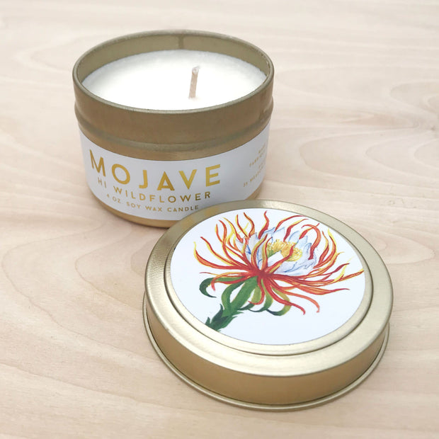 Mojave Travel Tin Exotic Soy Candle Earthy Oasis by Hi Wildflower Shop Jupiter Goods