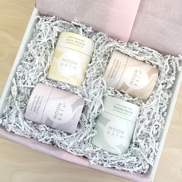 Moon Bath Gift Set Ground Nourish Rejuvenate Clarity Surrender Moon Bath Shop Jupiter Goods