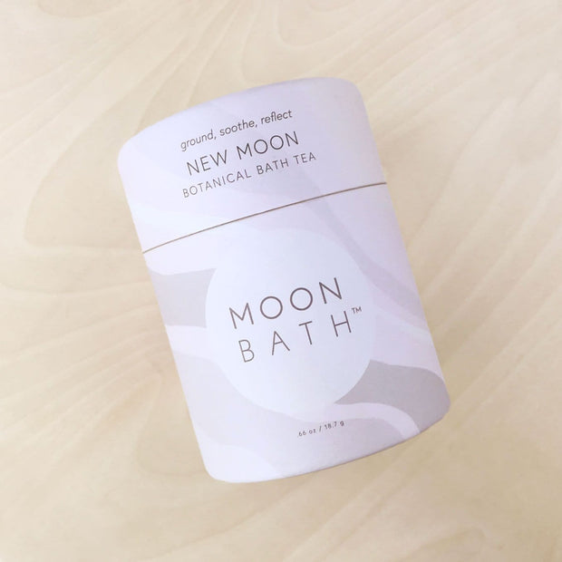 New Moon Bath Tea Grounded Soothe Reflect by Moon Bath Shop Jupiter Goods