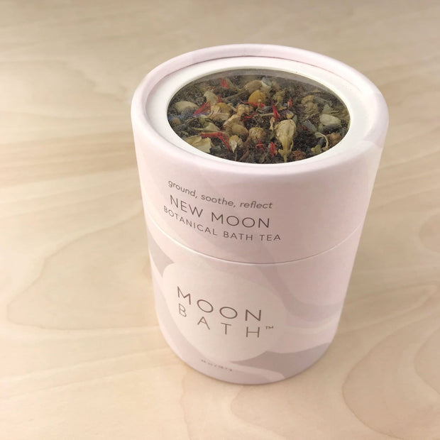 New Moon Bath Tea Grounded Soothe Reflect Lavender Chamomile by Moon Bath Shop Jupiter Goods
