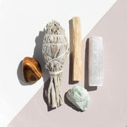 New Beginnings Ritual Kit Amazonite Tigers Eye Crystal White Sage Palo Santo by Jax Kelly Shop Jupiter Goods