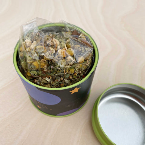 Nightcap Herbal Sleep Tea Rooibos Linden by Par Avion Tea Shop Jupiter Goods
