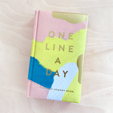 Modern One Line a Day Memory Book Journal Reflection Shop Jupiter Goods