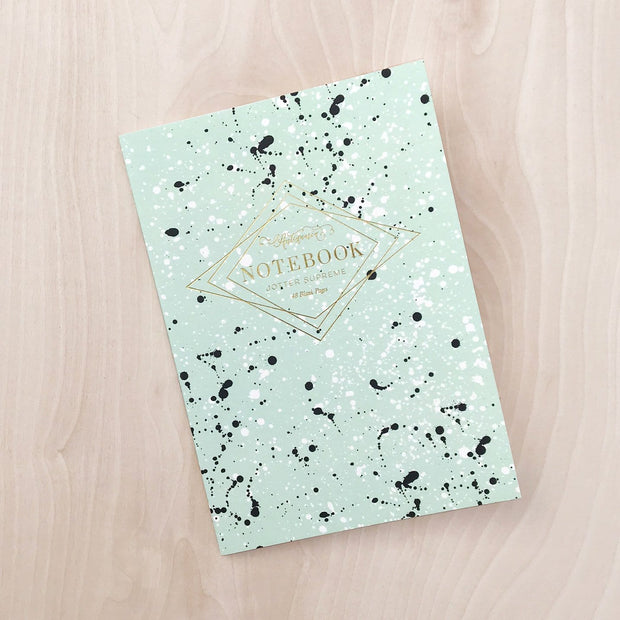 Aqua Paint Splatter Supreme Notebook