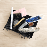 Prosperity Ritual Kit Selenite Crystal Palo Santo Sage Moon and Jai Matches Shop Jupiter Goods