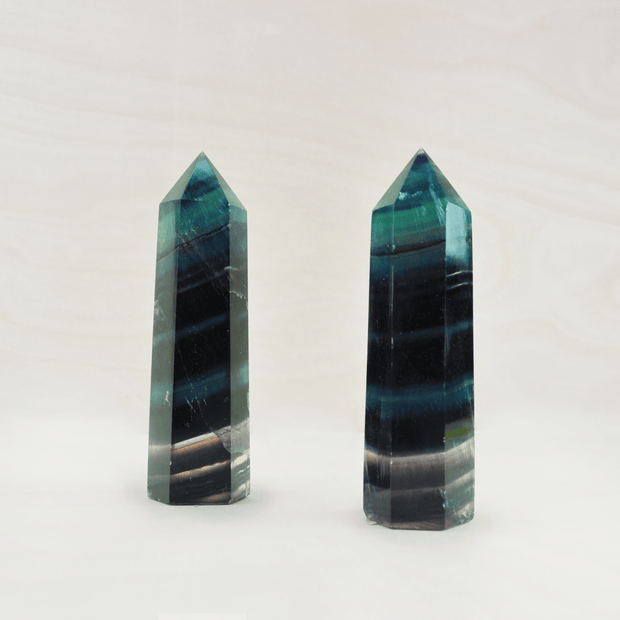 Rainbow Fluorite Crystal Points Reset and Refresh Shop Jupiter Goods