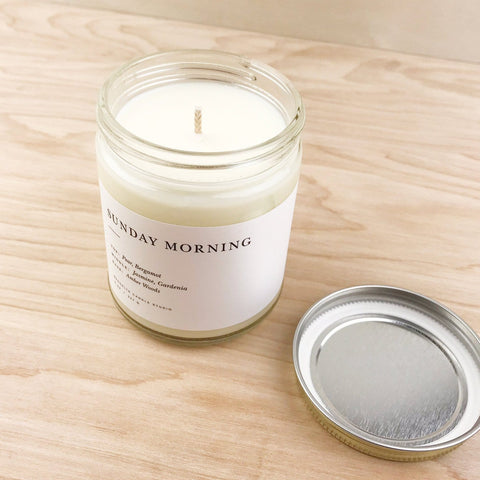 Sunday Morning Soy Candle Farmers Market Brooklyn Candle Studio Shop Jupiter Goods