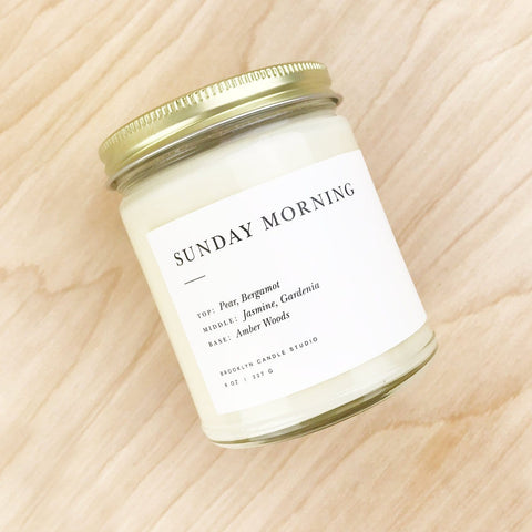 Sunday Morning Soy Candle Brooklyn Candle Studio Shop Jupiter Goods
