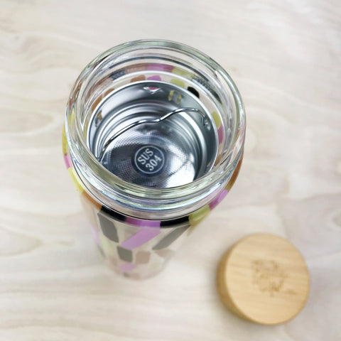 Tea Infuser Glass Travel Mug