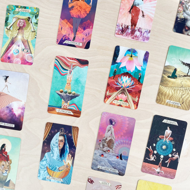 The Muse Tarot 78 Card Deck and Guidebook Colorful Eclectic Spirit by Chris Anne Shop Jupiter Goods