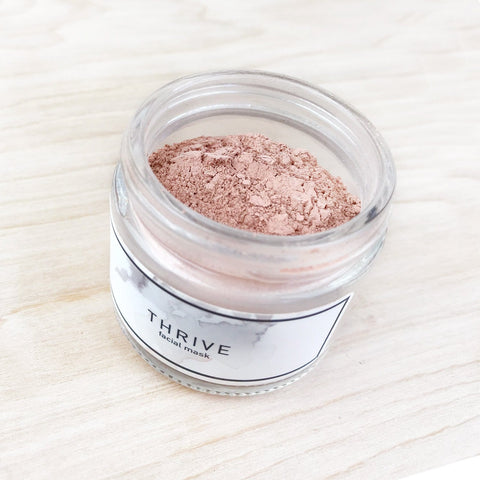 Thrive Facial Mask Pink Clay Hibiscus Flowers Rejuvenating The Good Hippie Shop Jupiter Goods