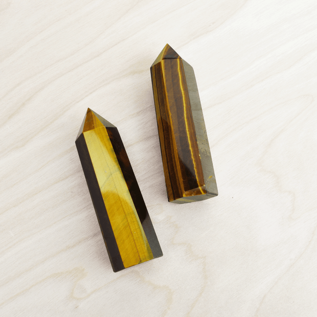 Tiger's Eye Stone Pointed Wand