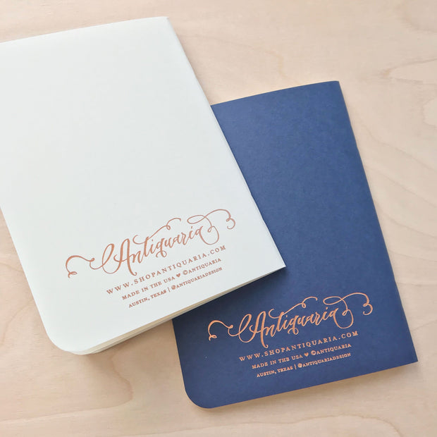 Vows Wedding Notebook Set Bride and Groom by Antiquaria Shop Jupiter Goods
