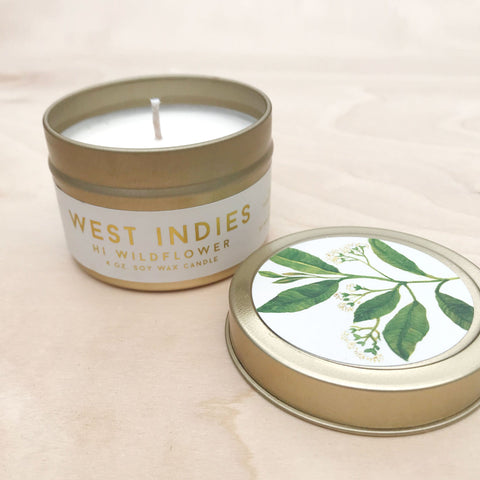 West Indies Travel Tin ~ Exotic Soy Candle