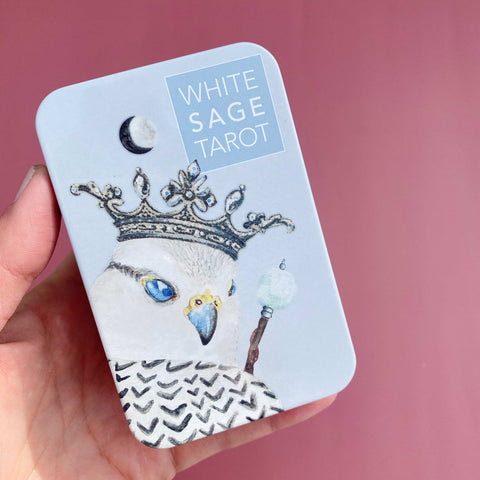 White Sage Tarot Deck in a Tin