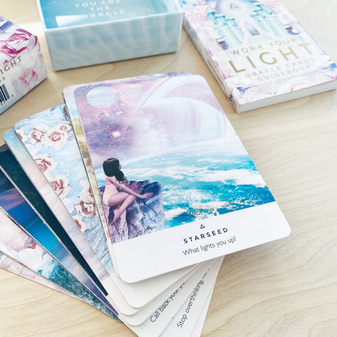 Work Your Light Oracle Card Deck 44 Pastel Cards by Rebecca Campbell Shop Jupiter Goods