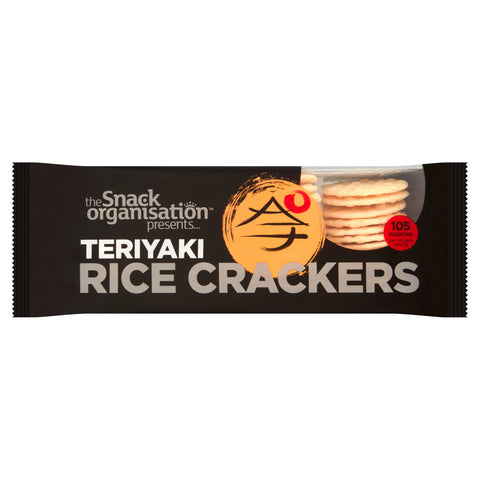 6x The Snack Org - Rice Crackers - Teriyaki (6x 100g) - The Snack Organisation