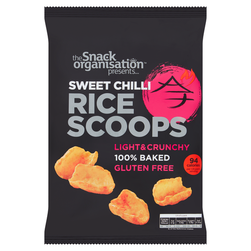 6x The Snack Org - Rice Scoops - Sweet Chilli (6x 80g) - The Snack Organisation