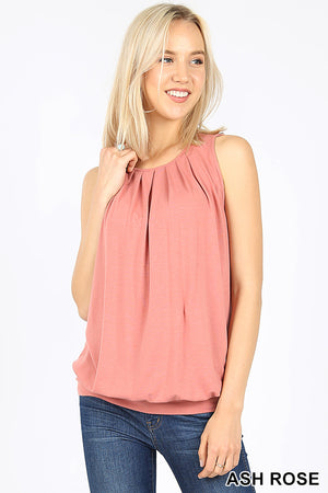 Silky Smooth Pleated Tank