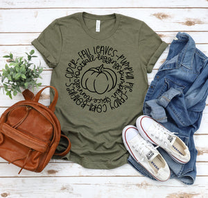 Fall Circle with Pumpkin T-Shirt