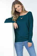 Basic Dolman Long Sleeve Top